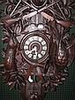 BLACK FOREST CUCKOO CLOCK. Nicely carved bone