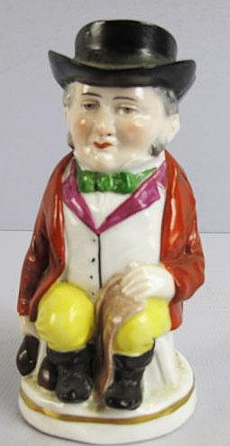 CHELSEA PORCELAIN TOBY JUG.  With gold anchor.