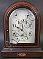 GERMAN WESTMINISTER CHIME INLAID SHELF CLOCK. Ca.