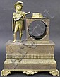 EMPIRE BRASS FIGURAL CLOCK CASE. Early 19th