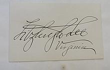 Major General Fitzhugh Lee Autograph