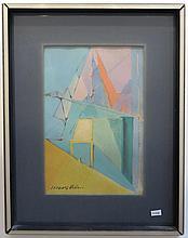 Jacques Villon Color Lithograph