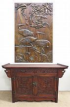 Carved Huanghuali Cabinet