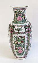 Qing Chinese Rose Medallion Vase