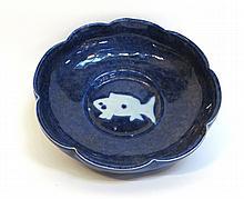 Blue And White Fish Dish