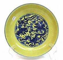 Yongzheng Yellow Dragon Plate