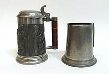 Two Pewter Mugs