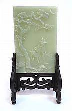 White Jade Miniature Table Screen