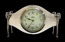 Silver Plate Desk Timepiece