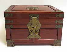 Rosewood Jewelry Cabinet
