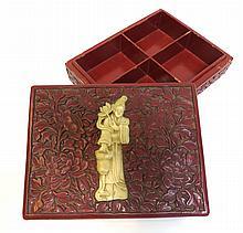 Chinese Cinnabar Lacquer Box