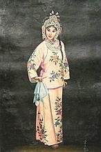 Chinese Painting Opera Girl