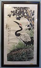 Watercolor And Ink Scroll Att. Tong Yuan
