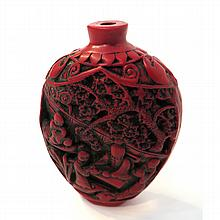 Red Snuff Bottle