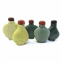 5 Stone Snuff Bottles