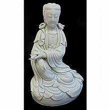 Seated Dehua Quanyin Figure
