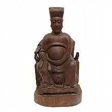 Ming Style Wood Carved Officer