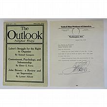 Labor Leader John L. Lewis Autograph