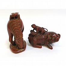 Pair Of Asian Carvings