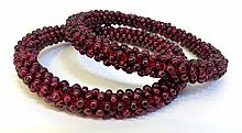 Pair Of Red Beaded Bangles