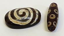 Two Larger Dzi Beads