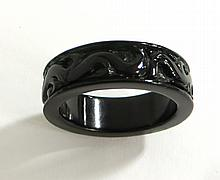 Black Hardstone Ring
