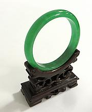 Fine Green Jade Bangle