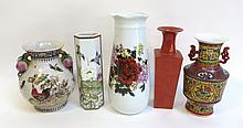 Five Assorted Vases