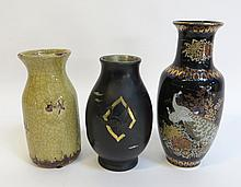 Three Assorted Vases