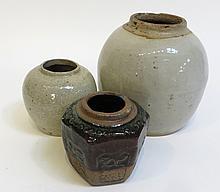Three Antique Ceramic Jars