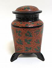 Lacquer Lidded Jar