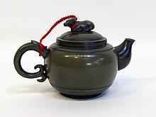 Green Yixing Ware Teapot
