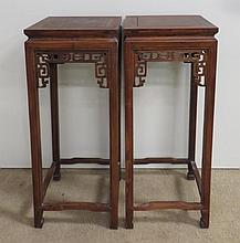 Pair Huanghuali Wood Stands