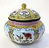 Fine Enamel Ware Lidded Container