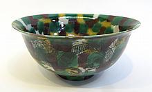Kangxi Bowl In Green, Yellow, Black
