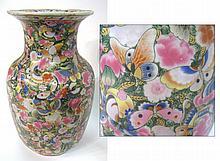 Famille Rose Butterfly Vase