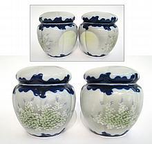 Pair Of Japanese Jars