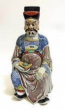 Chinese Porcelain God Figure
