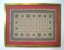 Stitchwork, Framed Table Cover