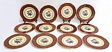 12 X Stubenville Ivory Plates