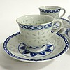Set Of Six Rare Tea Cups