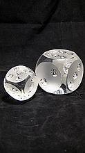 Frosted Glass Dice By Spode