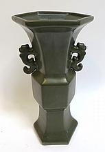 Tea Dust Glaze Vase