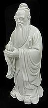 Chinese Antique Blanc De Chine Figure