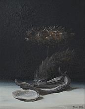 Ronald Reillo. Still Life, oil on board
