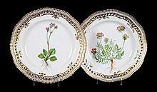 2 Royal Copenhagen Flora Danica salad plates