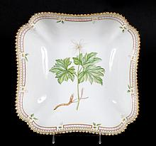 Royal Copenhagen Flora Danica square bowl