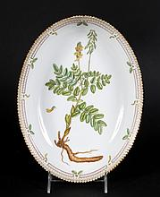 Royal Copenhagen Flora Danica oval bowl