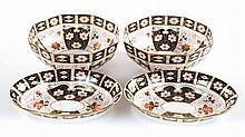2 pairs of Royal Crown Derby china bowls