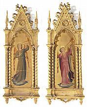 After Fra Angelico, Trumpeting Angels, egg tempera